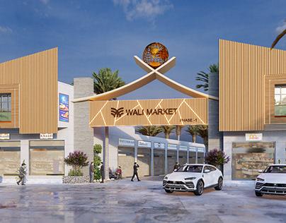Wali Market | Commercial Exterior Design By Wahab Ahmad