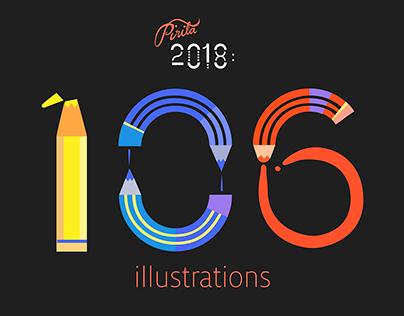 Year 2018 Illustrated