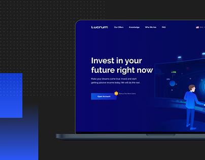 Website for cryptocurrency investment platform