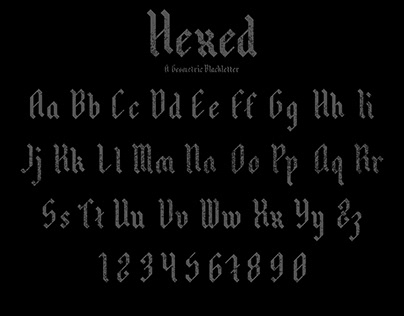 Hexed A Geometric Blackletter