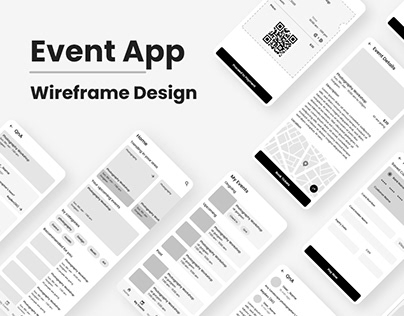 Event App Wireframe Design