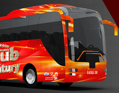 My participation in the design of the club Ahli bus