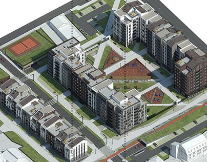 Residential complex in Izhevsk / 2017