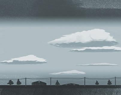 Clouds --- Landscape illustrations