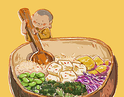 Buddha bowl • Illustrations for Hạt