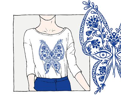 Œil - Fleur - Papillon