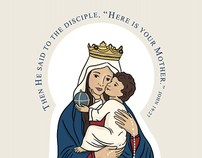Our Lady of the Holy Rosary Prayer Card Commission