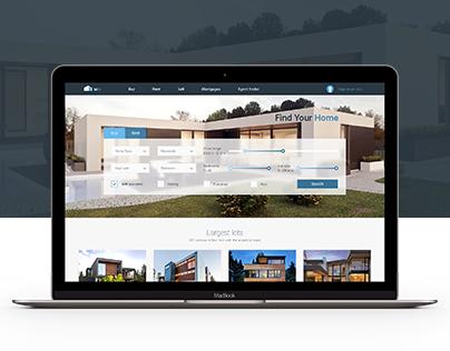 Real estate website design MH