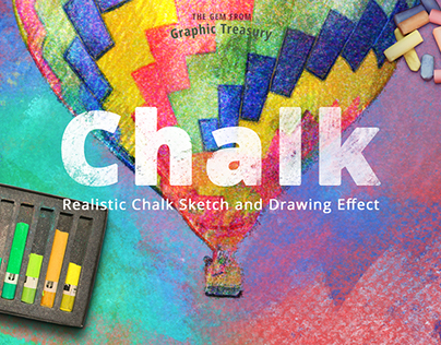 Realistic Chalk Drawing Effect — $12