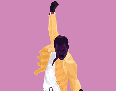 FREDDIE MERCURY - Illustrated biography