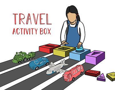 Travel Activity Box Game for Children (3-4 yrs old)