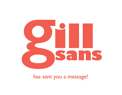 Gill Sans | Type Spec Book