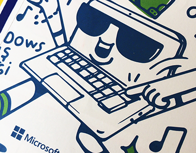 Microsoft Windows 10 Sticker set