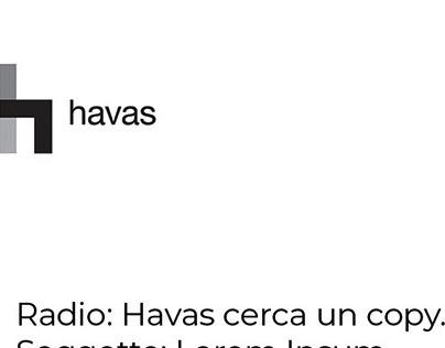 Havas cerca un copy Radio - Accademia di Comunicazione