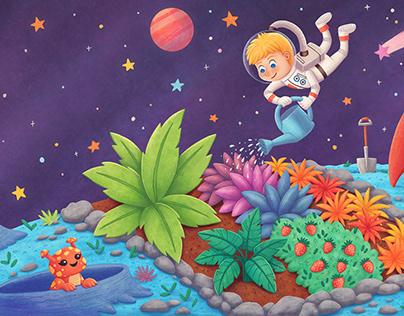 Clever Gardening Astronaut