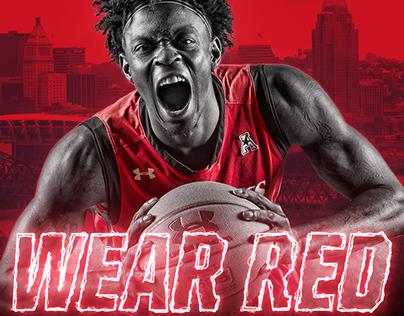 2017-18 Bearcats Men's Basketball - Wear Red Game