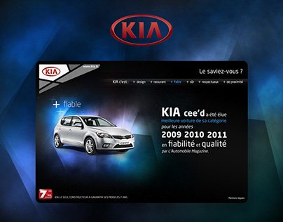 Landing page Kia