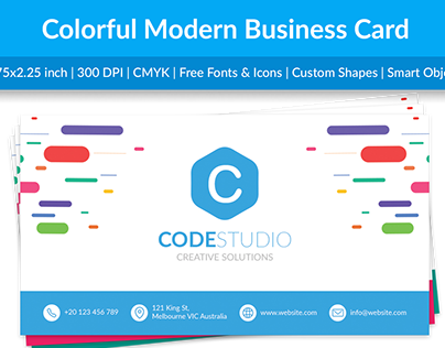 Colorful Modern Business Card