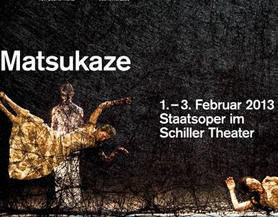 Poster for Matsukaze by Sasha Waltz