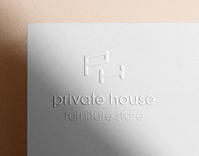 private house - furniture store logo design