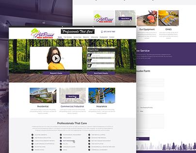 All Round Tree Services Website Design