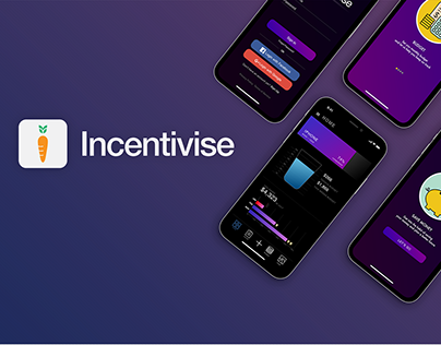UI/UX design for Incentivise- Personal finance app