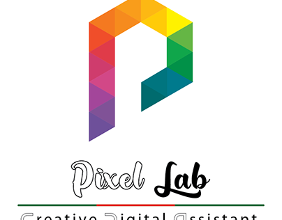 PixelLab's logo. Made by golden ratio.