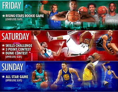 2019 NBA All-Star Flyer Design