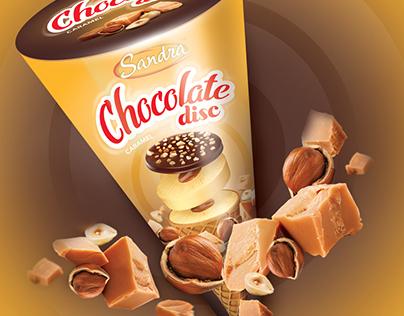 Packaging - Ice cream Chocolate Disc
