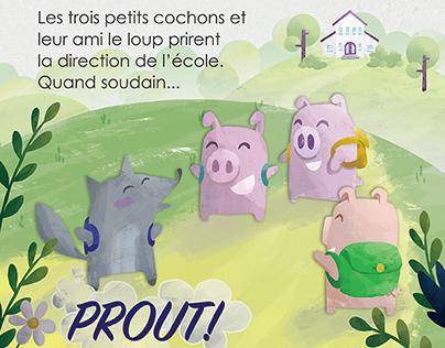 3 petits cochons - projet personnel -