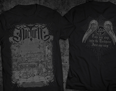 "NocturN(RO) - ""Thrones of Deception - Tshirt Artwork"