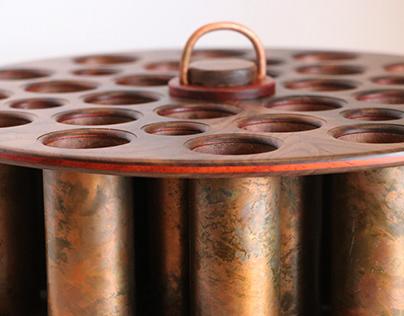 Copper Walnut and Padauk Artist Caddy