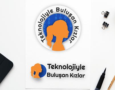 Teknolojiyle Buluşan Kızlar Logo Tasarımı