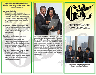 Griffin Logo, Business Card, Flyer and Brochure
