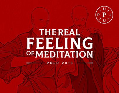 THE REAL FEELING OF MEDITATION   illustration