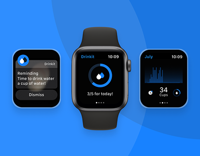 Daily Water Reminder Application on Apple Watch