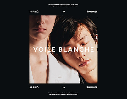 Voile Blanche — Campaign & Lookbook SS19