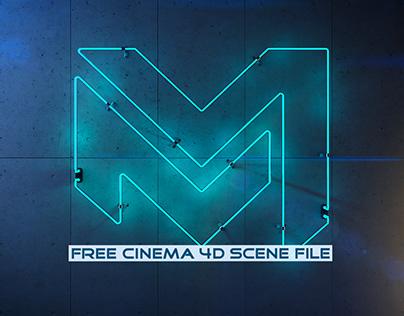 Neon Light | Fully Rigged Free Cinema 4D Scene File