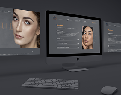 Vivid U Brows - Web design