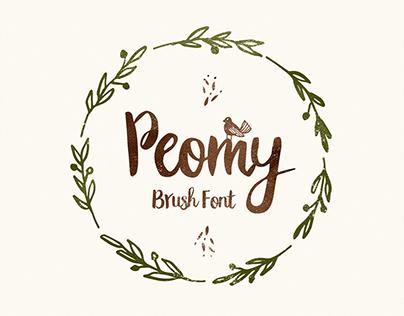 Peomy Extended Brush Font