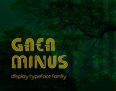 Gaeaminus Display Typeface Family