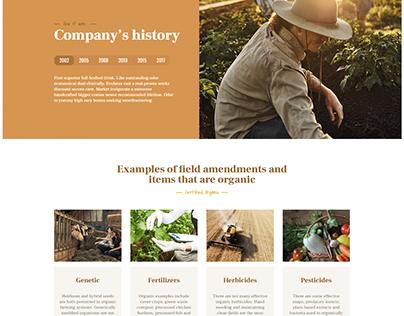 Farm Landing Page with Wordpress Elementor BeThemes