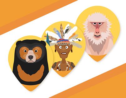 Borneo Icons