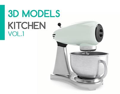 3D Models - Kitchen - Vol.1