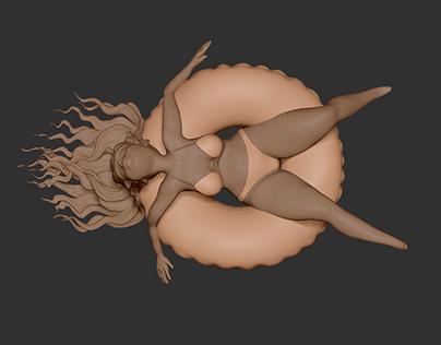 Heat Wave / Zbrush model