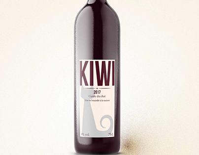 Mockup bouteille de vin