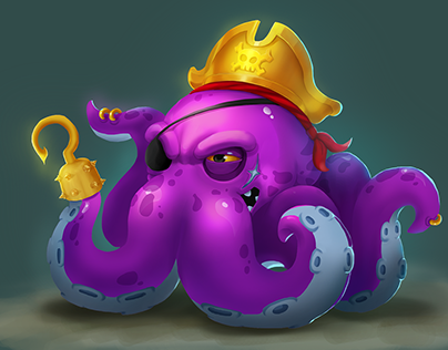 Personal project Pirate octopus