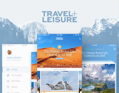 Travel + Leisure - Concept Re-Design