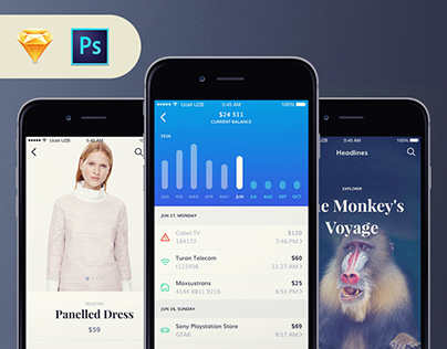 Ally UI Kit - 150+ iOS Screens