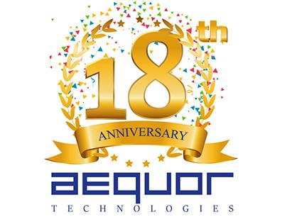 Aequor Group 18th Anniversary Logo